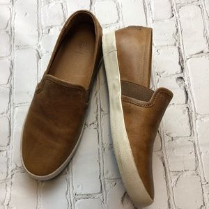 FRYE DYLAN SLIP-ON Loafer Leather BROWN COGNAC